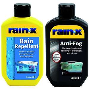 Rain-X Value Pack  200ml Rain Repellent and 200ml Anti-Fog Solutions in store Tesco Extra Grimsby - Maybe National £5