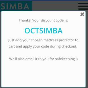 Free Mattress Protector  £45-£75 with £250 spend at  Simba Sleep