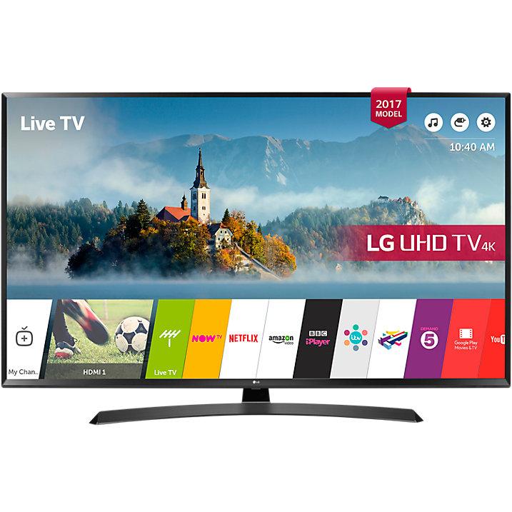 """LG 55UJ635V LED HDR 4K Ultra HD Smart TV, 55"""" £599 Delivered with 5 Year Warranty @ John Lewis"""