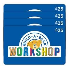 BUILD-A-BEAR 4 x £25 Gift E-Card £69.99 @ Costco