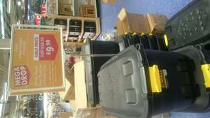 75L plastic storage box on wheels £9.99 Instore in The Range, Bournemouth.