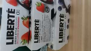 4x100g Liberte greek style yoghurt - 3 for £1 = 12 small pots at Heron Foods