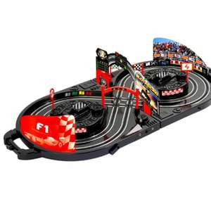 Slot Car Racing Game in Carry Case (no batteries needed) £16.99 delivered @ eBay sold by  Pink and Blue Gifts