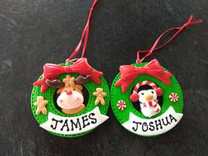 poundland personalised name christmas tree decorations 1