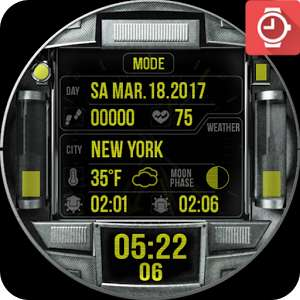 Proto NXT2 Watch Face now FREE (was 79p) @ PlayStore
