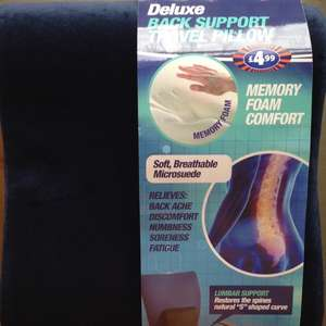 Deluxe memory foam back support travel 10p instore @ B&M