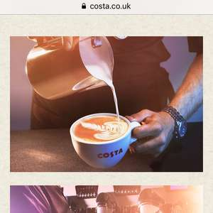Complementary re-usable cup & free pastry when you purchase from the new costa drive thru in Winchester
