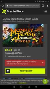 Monkey Island Special Edition Bundle (1&2) - £2.74 - Steam - Disney Sale on Bundlestars