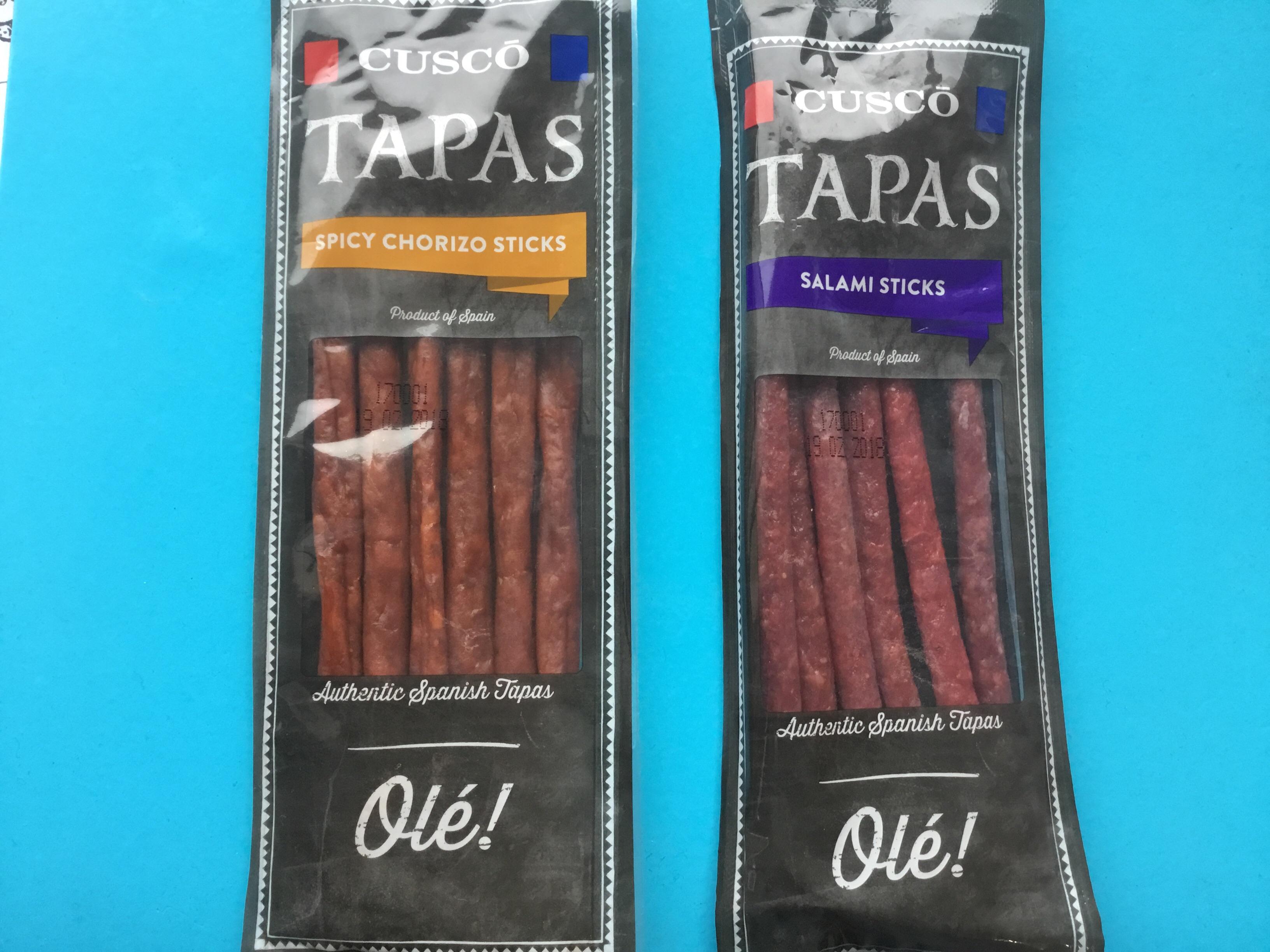 Cusco Tapas Spicy Chorizo Sticks 60g / Salami Sticks 60g @ ALDI 0.50p