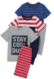 3 PACK BOYS STRIPED PYJAMAS ONLY £6, ALL SIZES AVAILABLE ONLINE AT GEORGE