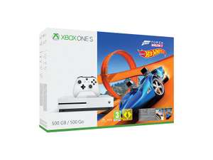 Xbox One S 500GB + Forza Horizon 3 with Hot Wheels DLC + Fifa 18 or Destiny 2 or Forza Motorsport 7 + Wolfenstein II: The New Colossus or The Evil Within 2 £219.70 @ ShopTo​
