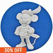 Disney Design It Yourself Mini Figure World - 1938 Brave Little Tailor Mickey Mouse only £2.10 Free C&C @ The Works