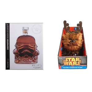 Stormtrooper Decanter + Star Wars Chewbacca Talking Plush for just £21.99 @ IWOOT