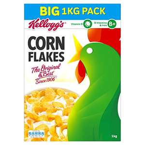 Kellogg's Corn Flakes, 1 kg (Pack of 4) £11. 50 or £10.93 S&S @ Amazon
