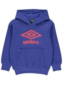 asda george boys blue umbro logo hoody £4 down from £12 online