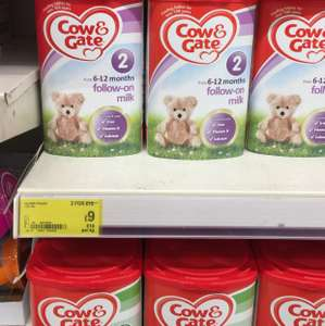 Cow and gate 2 milk powder 2 for £15 at ASDA online and in store