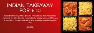 National Curry Week M&S Indian Takeaway Deal - with decent veggie options too! - £10