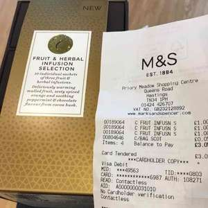 herbal Christmas tea from £8 down to £1 at M&S instore - Hastings