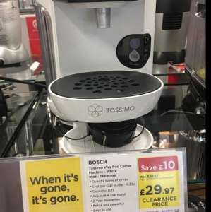 Bosch Tassimo Vivy Coffee Machine TAS1252GB VARIOUS COLORS - £29.97 instore @ Currys/PC World