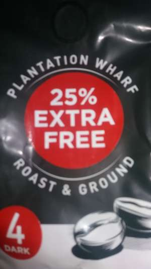 Home Bargains - Plantation Wharf coffee with 25% extra free - 75p