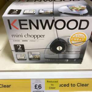 KENWOOD MINI CHOPPER - Reduced from £24 - £6 in Tesco store
