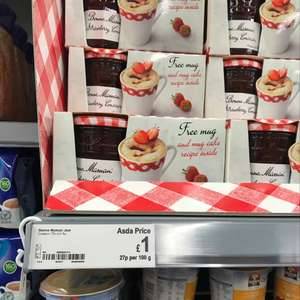 bonne maman jam (375g) with free mug only £1 at Asda, cemetery road