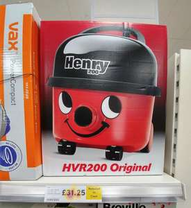 Numatic Henry HVR200 Just £31.25 *INSTORE* At Tesco Down From £125.  Very cheap bargain!
