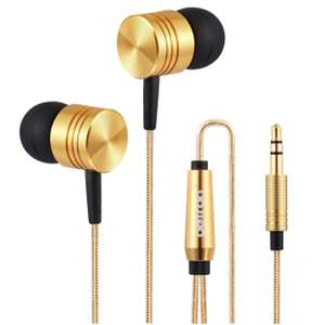 Betron B650 Noise Isolating Earphones Headphones, Powerful Bass, (Gold) - £8.99 Prime / £12.98 Sold by Betron, Fulfilled by Amazon