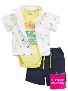 Ladybird Baby Boys 3pc Shirt, Bodysuit And Short Set £5.50-£6 @ Very (C&C)