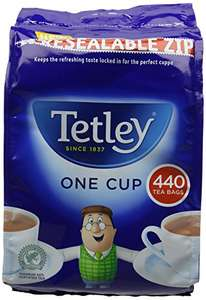 Tetley Tea Bags (Pack of 440) One Cup - £5.89 @ Amazon (Add-on Item)