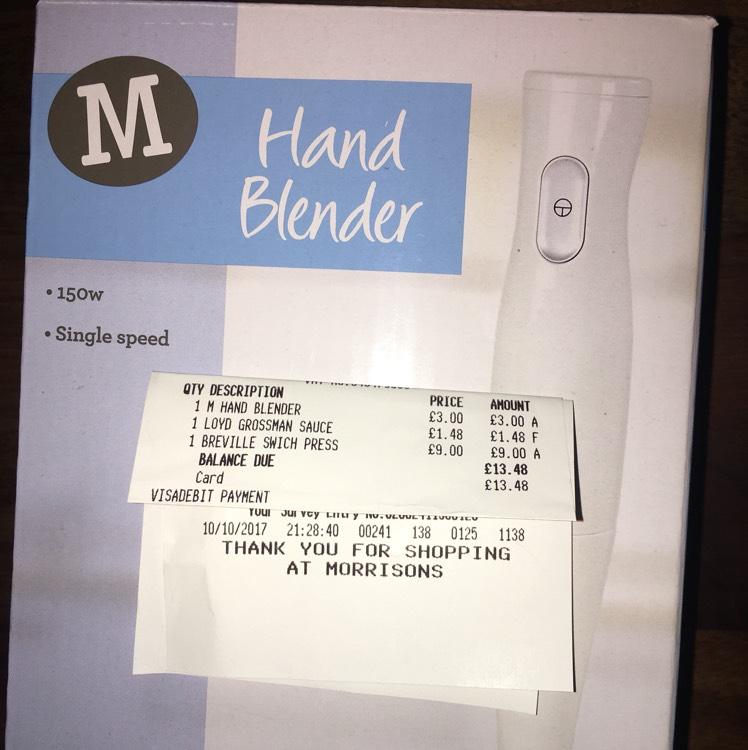 Morrisons Hand Blender £3 instore
