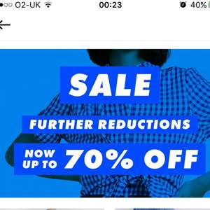 ASOS further reduction of sale - now up to 70% off