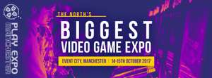 Play Expo Manchester 2017 ticket discount - 14/15th October 2017 Event City