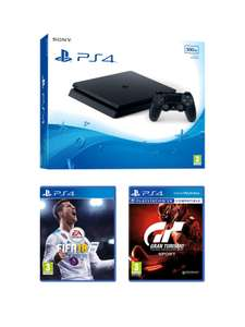PS4 500GB Black Slim Console + FIFA 18 + Gran Turismo Sport £184 (New Customer with 20% code) or £229.99 @ Very