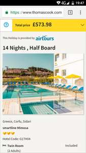 From London: 2 Week Half Board September/October 2018 Holiday to Corfu £286.99pp Inc Flights, Hotel, Transfers & 15kg Luggage & Low Deposit @ Thomas Cook
