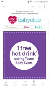 Free drink at tesco (email only)