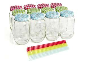 Drinking Jars With Straws 12 pack just £2 @ Wilko