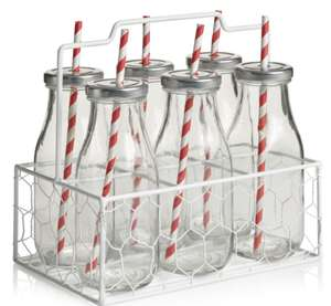 Wilko Milk Bottle Set 6pcs £3.00