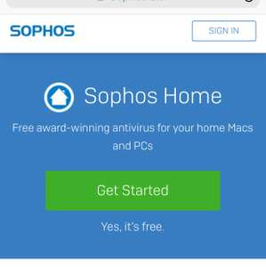 Sophos antivirus and security  is free for home users