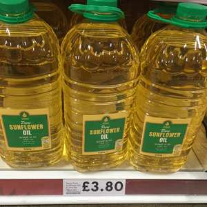 Pure Sunflower Oil 5L £3.80 @ Tesco