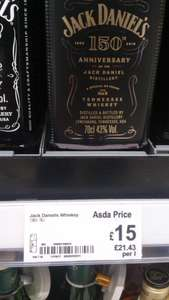 Jack Daniel`s 150th anniversary 70cl £15 at Asda instore and online
