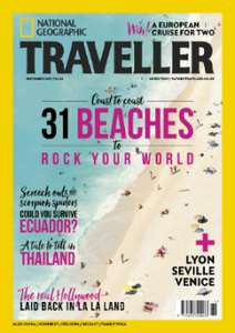 3 issues of Nat Geo Traveller Magazine for £1