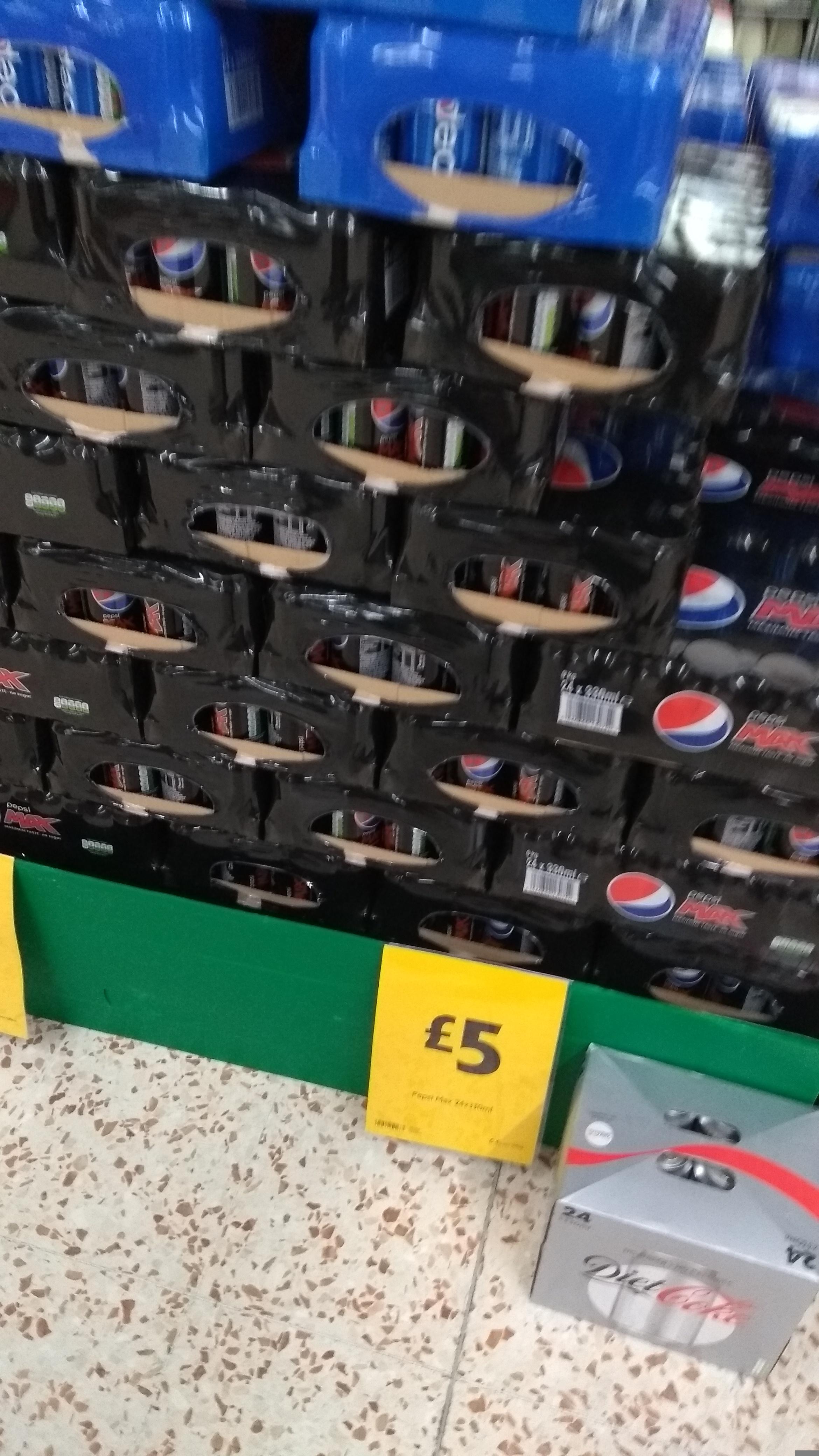 24pk Pepsi/Pepsi Max 330ml £5 @ Morrisons ( instore)
