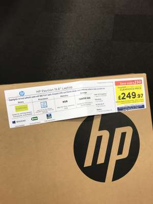 "Hp Pavilion 15.6"" 8gb ram 128gb Laptop - £249.97 instore currys/pcworld"