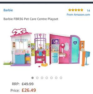 Barbie Pet Care Centre Playset at Amazon for £26.49