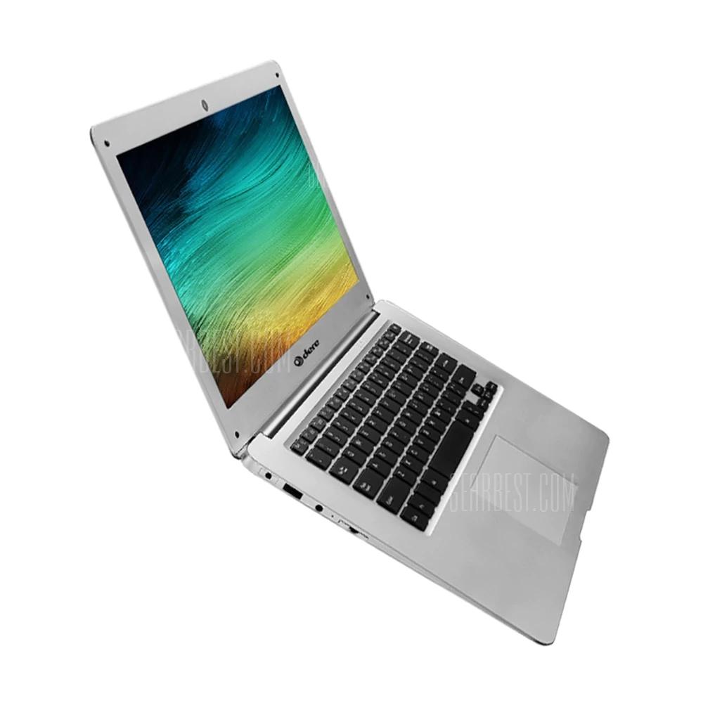"DERE A3 Air Notebook  -  14.1"" W10 J3455 4Gb RAM 64G SSD + 500G HDD  SILVER - £218.32 @ Gearbest"