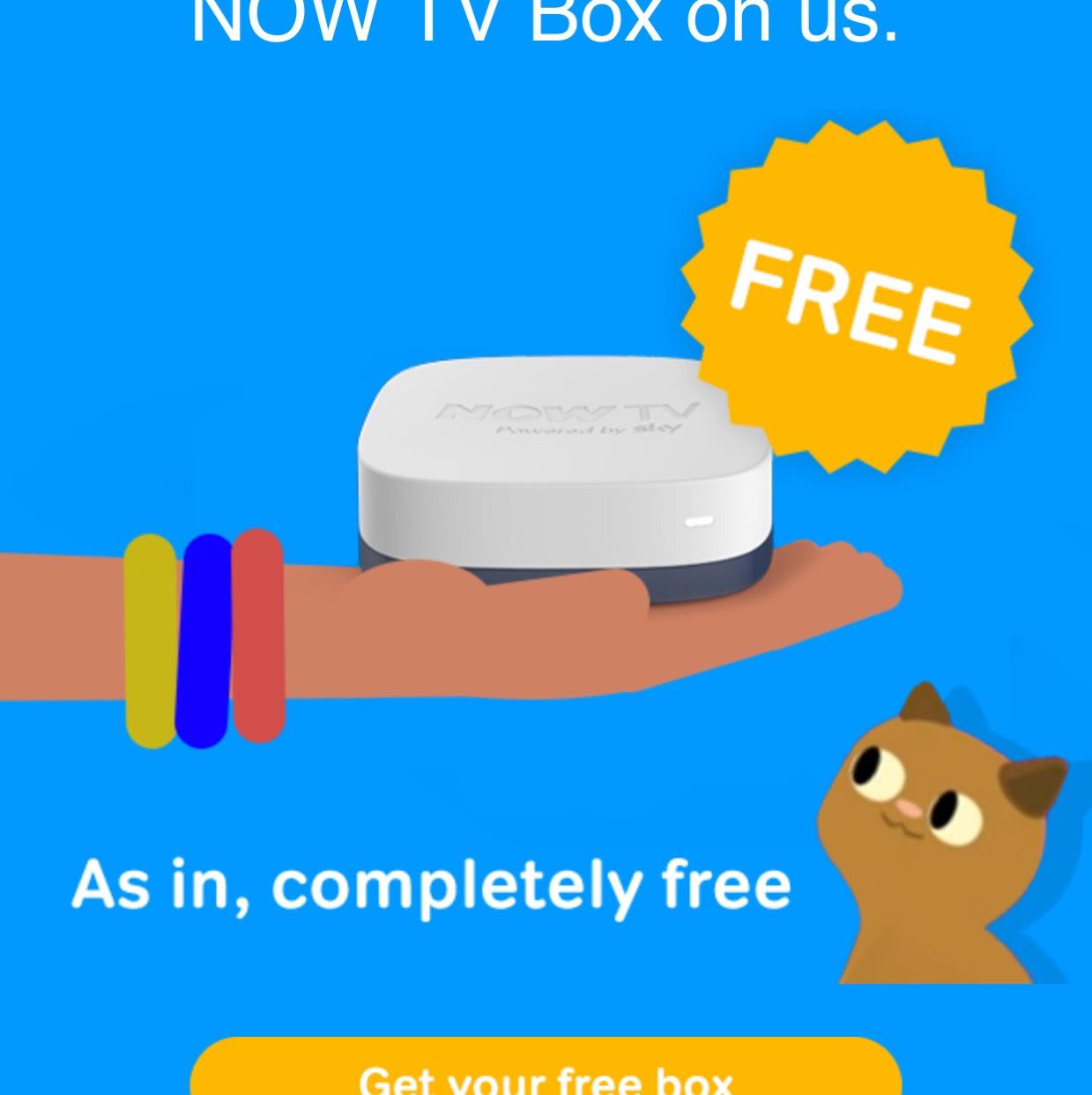 Free Now TV box - Worth £14.99