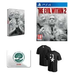 (pre order) the evil within 2 ps4/ xb1 / pc steel book + t-shirt + sign £49.99 @ game