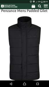 Mens padded gilet - £12.99 @ Mountain Warehouse (plus £2.50 P&P)