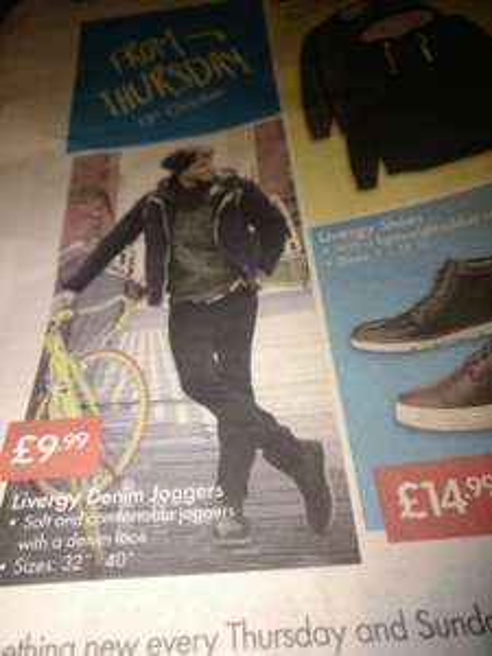Livegy Denim Joggers Lidl £9.99